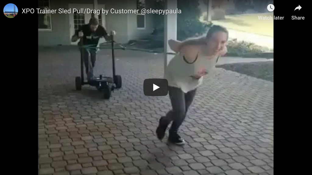 XPO Trainer Sled Pull/Drag by Customer @sleepypaula