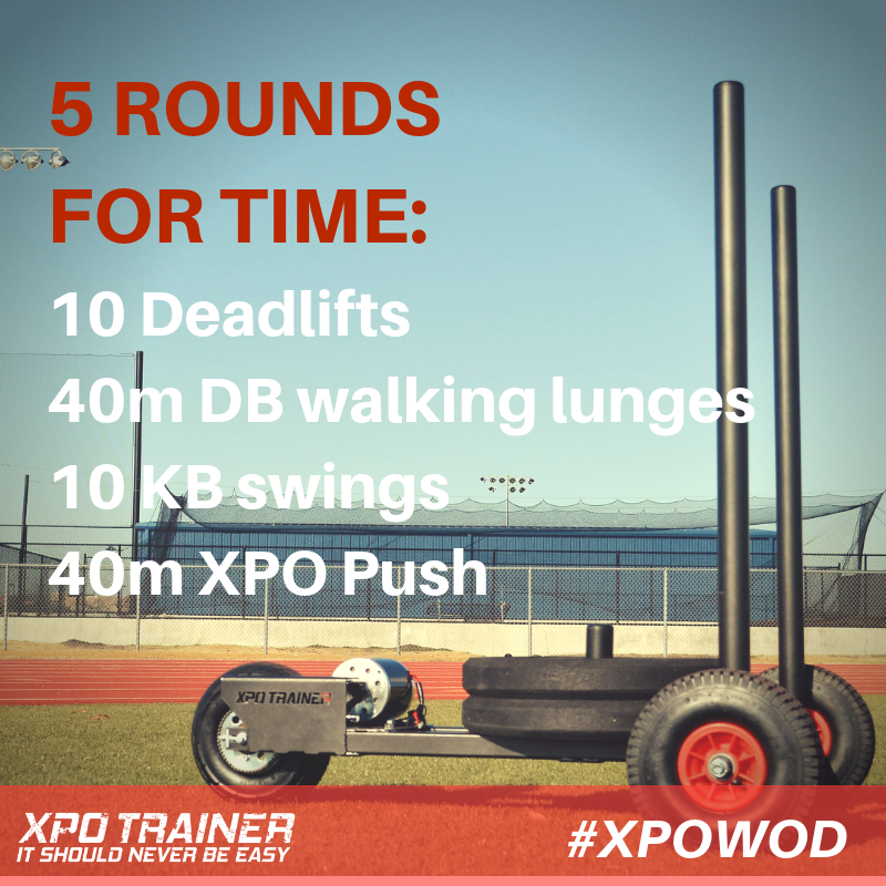 Armored Fitness Sled Workout - Deadlifts & Walking Lunges