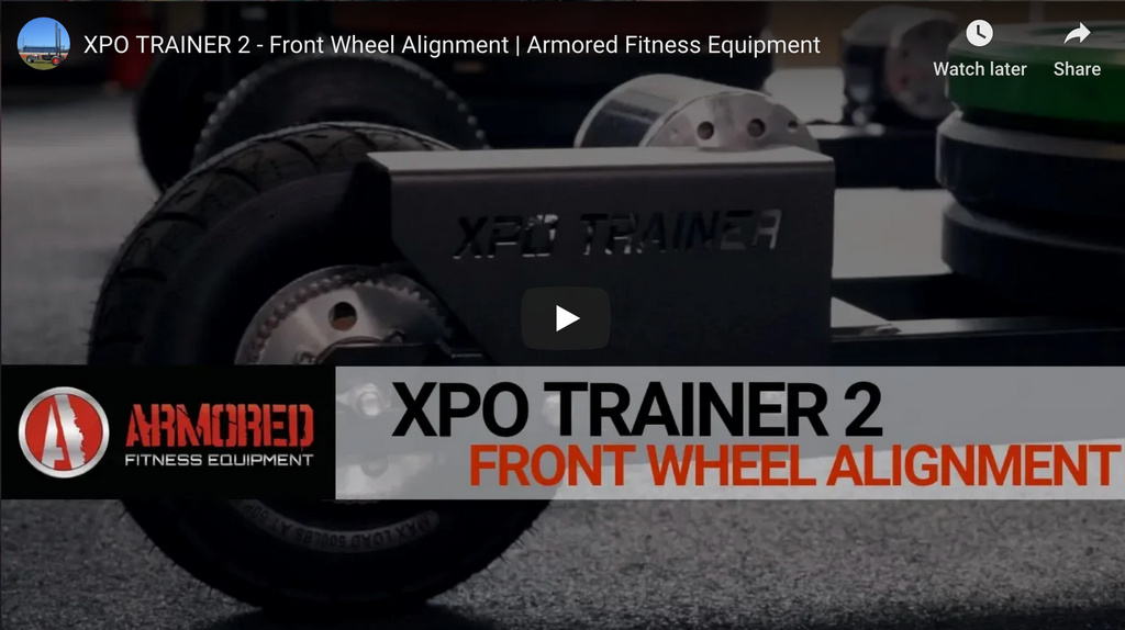 XPO TRAINER 2 - FRONT WHEEL ALIGNMENT