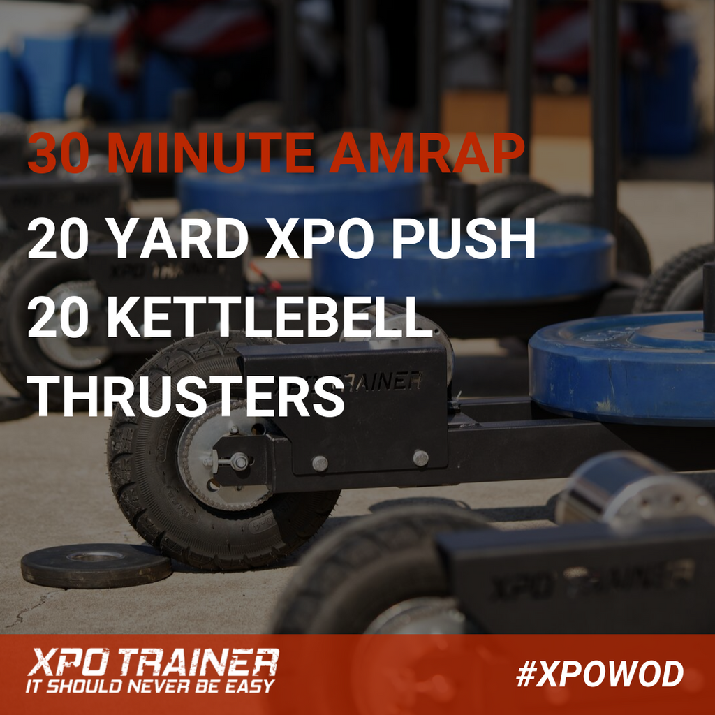 Armored Fitness Sled Workout - Kettlebell Thrusters
