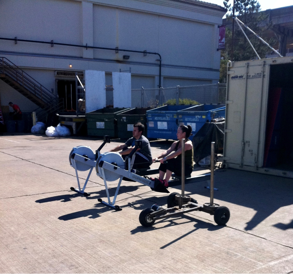 XPO Sled prototype in the parking lot of dreams at San Francisco CrossFit