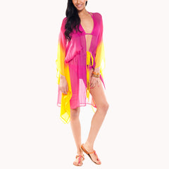 Madison Fuchsia Yellow Coverup