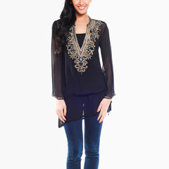 Belina Black Tunic