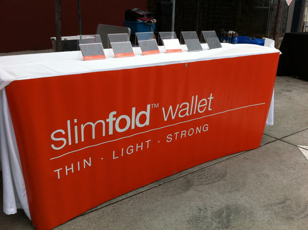 SlimFold Minimalist Wallet Booth Photo