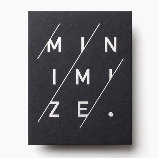 Minimize by Jeff Sheldon of Ugmonk