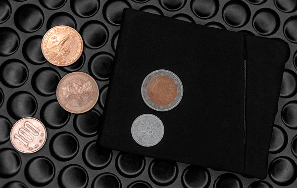 Minimalist Coin Wallet With Coins
