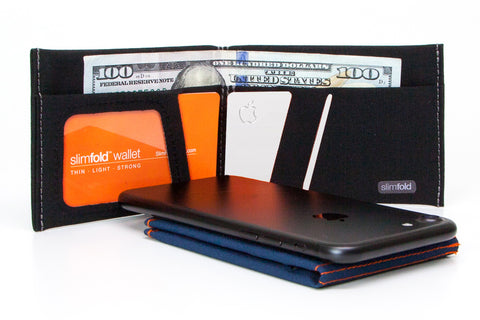 SlimFold Thin Wallet is non-leather for apple card