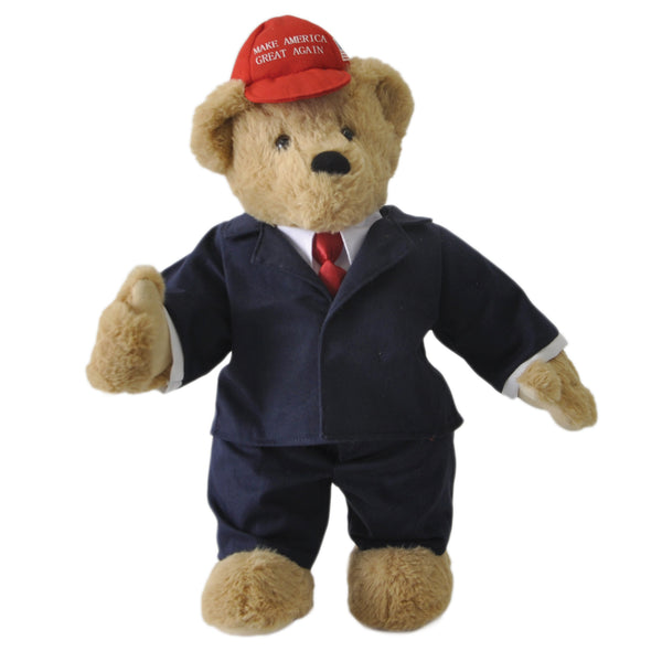 DEPLORABEAR WEARS A BRIGHT RED MAGA HAT!