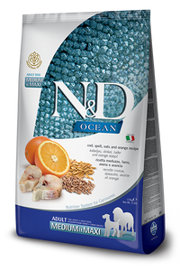 N&D - Ocean Adult Medium & Maxi Cod & Orange - Spelt & Oats