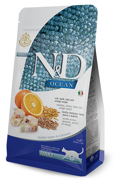 N&D CAT - Ocean Adult Cod & Orange - Spelt&Oats