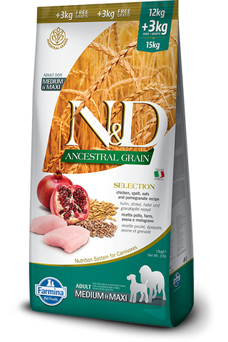 ND low grain medium maxi selection chicken
