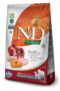 N&D - Pumpkin GF Adult Medium & Maxi Chicken & Pomegranate