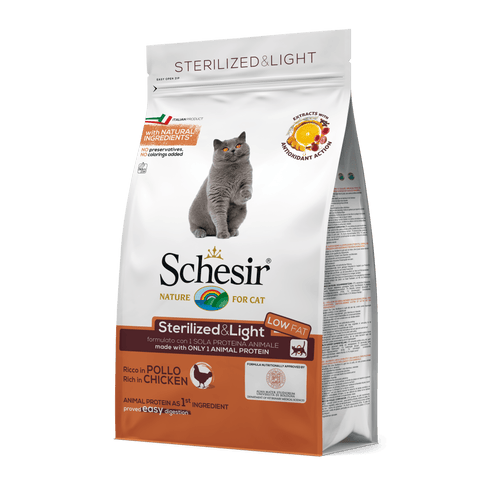 SCHESIR CAT - Sterilised & Light Chicken