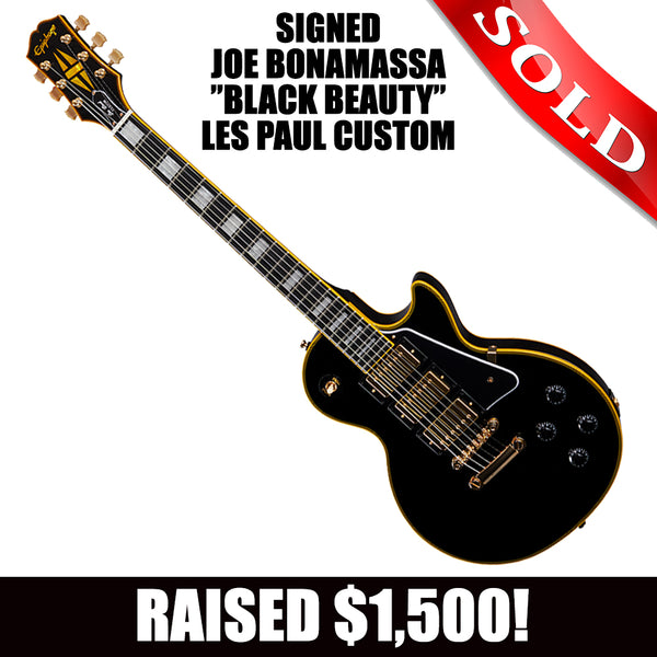 Autographed Joe Bonamassa Black Beauty Les Paul Custom