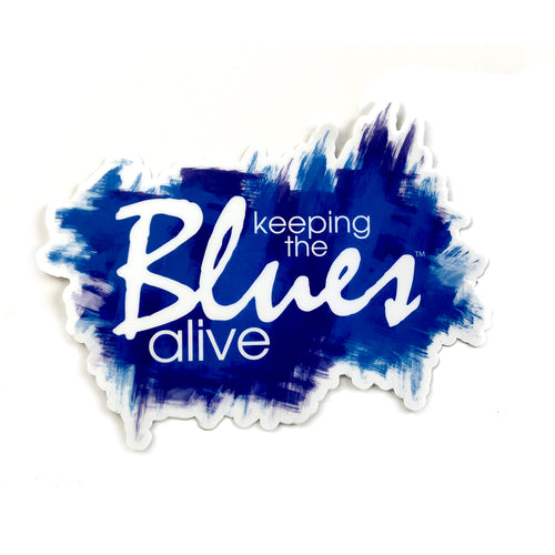 Keeping the Blues Alive Sticker