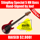 StingRay Special 5 HH Bass hand-signed by Joe Bonamassa!