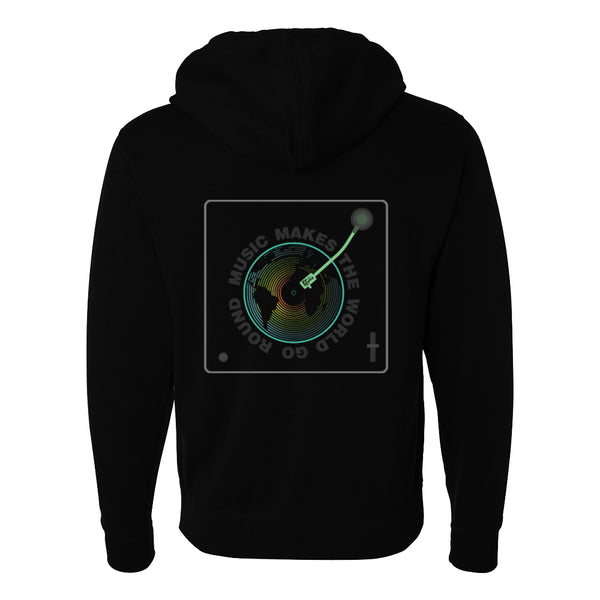Music Makes the World Go Round Zip-Up Hoodie (Unisex)