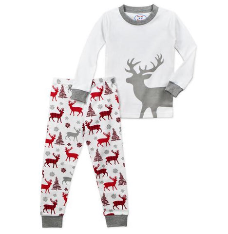 Grey reindeer 2 piece PJ