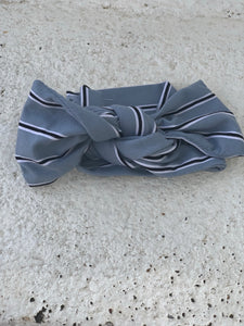 Blue Grey Knot Bow