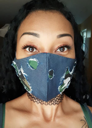 Camo Denim Face Mask (Special Edition)