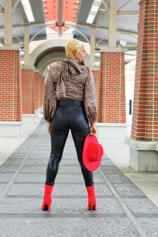 Don't Stop Faux Leather Leggings
