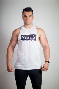 Classic Vest - White - Reach Fitness Wear
