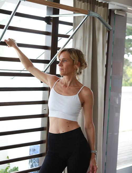 ARKET seamless Yoga Bra, made from recycled material