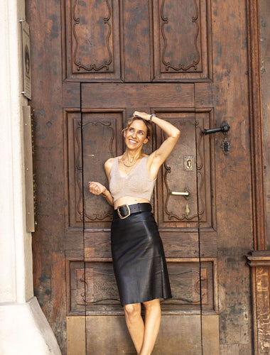 STOULS Leather Skirt