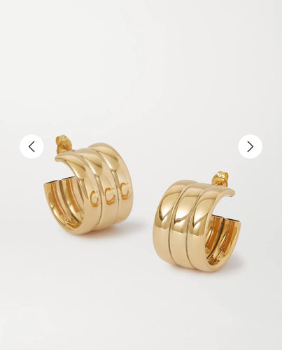 LAURA LOMBARDI mini grazia gold-tone hoop earrings