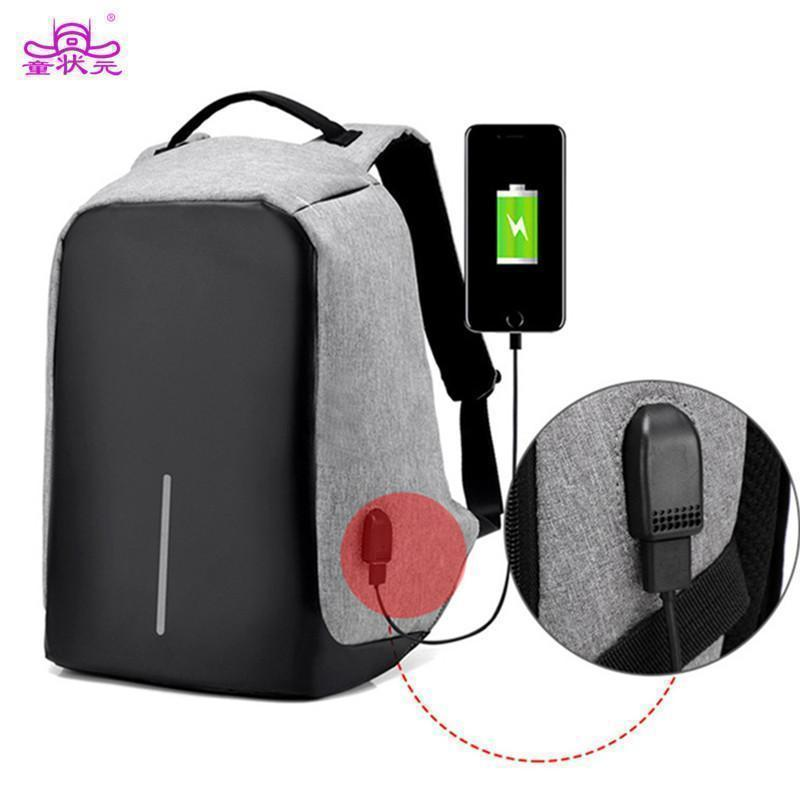 Anti Theft Laptop Backpack - 15in with USB CHARGE PORT