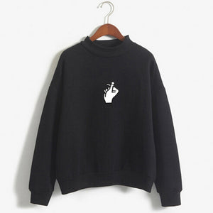 Women Autumn Fashion Long Sleeve Printed Sweatshirt Blouse Tops T Shirt