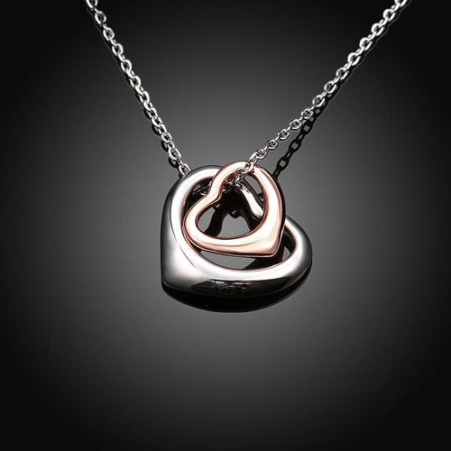 Classic 2 PC Heart Necklace 18