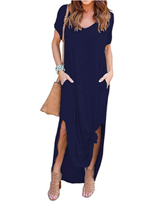 V-neck Boyfriend T-shirt Dress