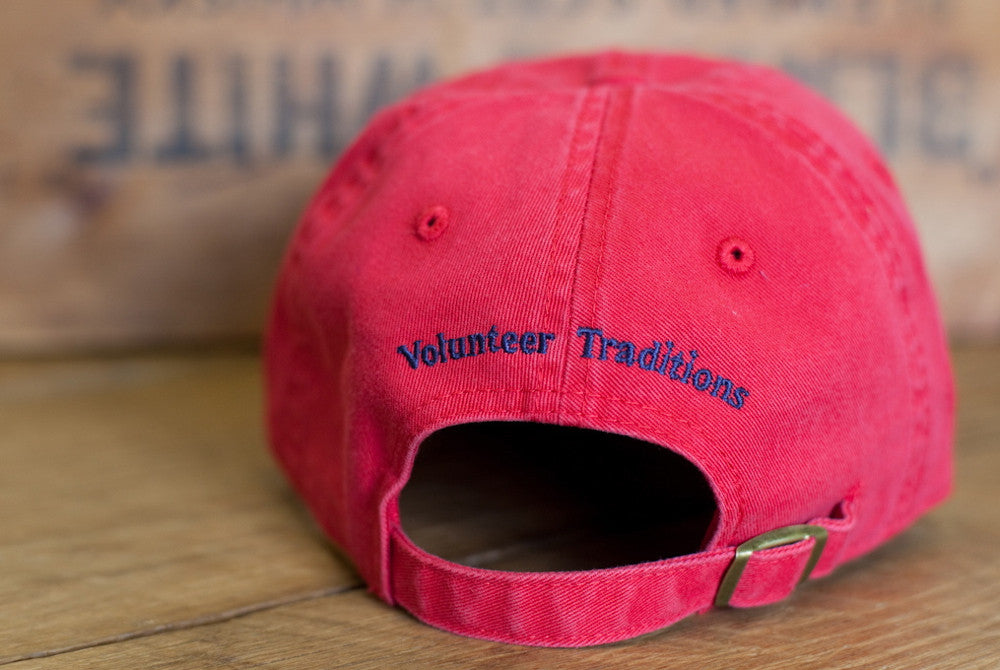 Volunteer Traditions Tennessee Red Tristar Hat from the back.