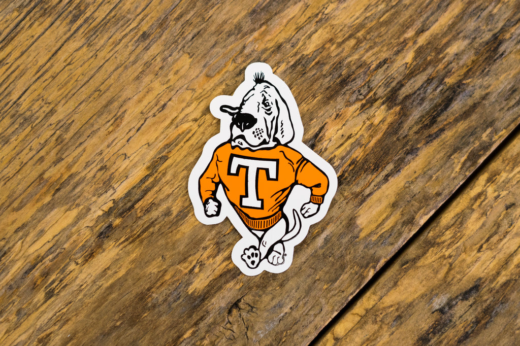 University of Tennessee Licensed Decal Stickers on Wood. Smokey Dog Decal.