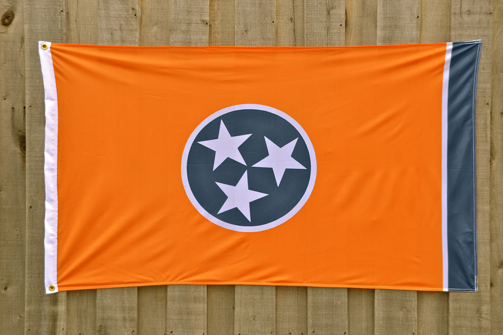 Orange Tennessee State Tristar Flags, Volunteer Traditions