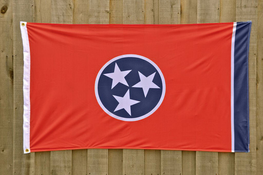 Red Tennessee Tristar State Flag, Volunteer Traditions TN