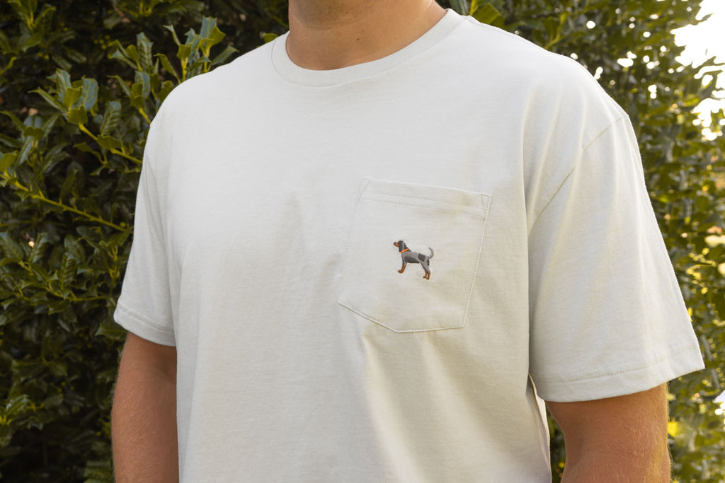 Bluetick Embroidered Pocket Tees