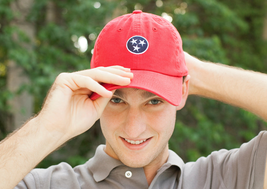 Red Tennessee Tristar Flag Hat State Volunteer Traditions