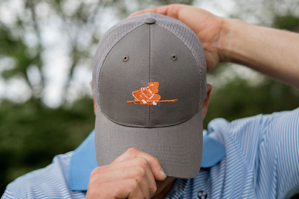 Volunteer Traditions University of Tennessee Rifleman Grey Promesh Hat with Grey Mesh.