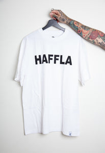 Haffla white tall tee