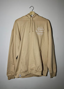Beige crooked and shameless hoodie