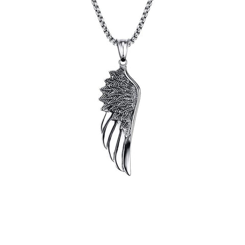 WING NECKLACE - SOLID SILVER