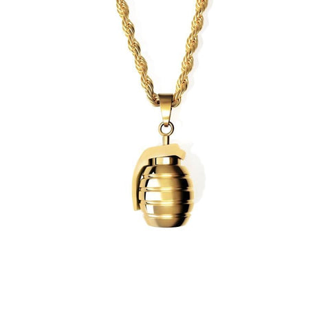 GRENADE NECKLACE - GOLD PLATED