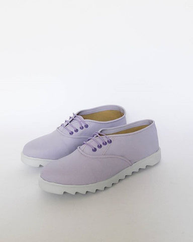 Lavender vegan oxfords