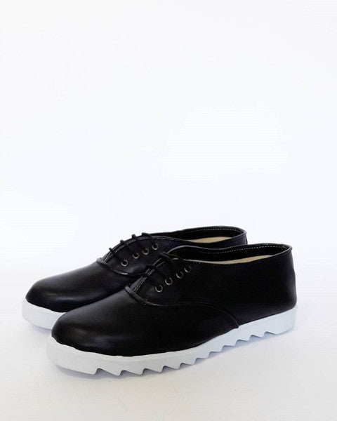 Black Vegan Oxford Shoes