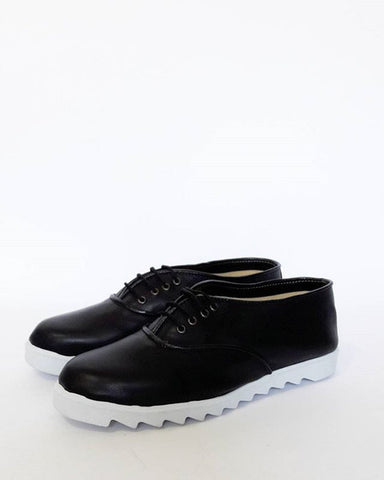 Black Vegan Oxfords