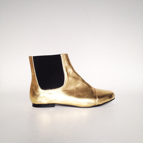 HELPSY :: Golden Ponies Jane Faux Leather Golden Chelsea Boot