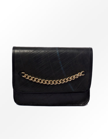 Recman Chain Clutch Purse, Recycled materials
