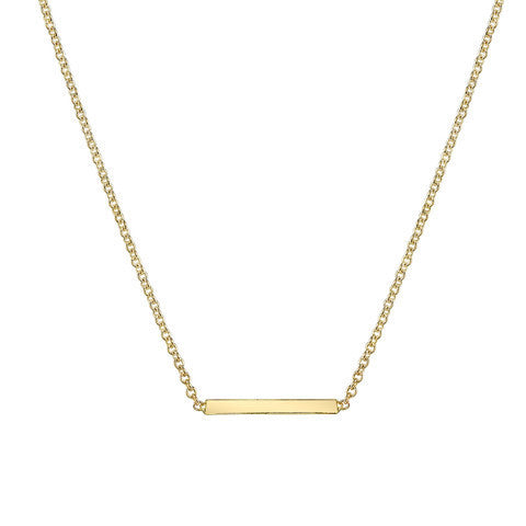 Carrie Hoffman Mini Bar Necklace 14kt gold